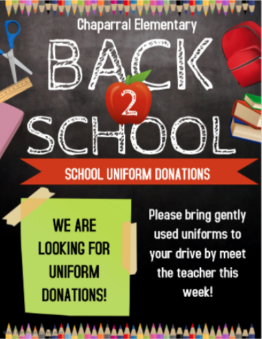 uniform donations